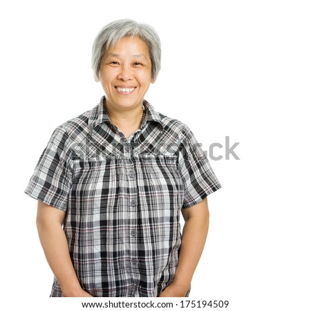 Asian mature woman - stock photo