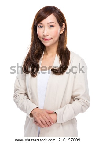 Asian middle age woman - stock photo