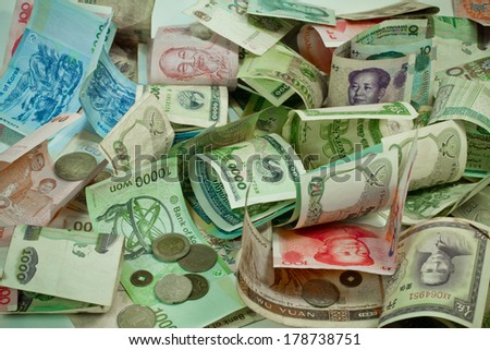 asian money - stock photo