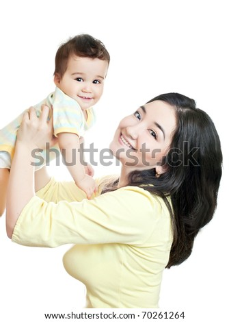 asian mother and baby-boy