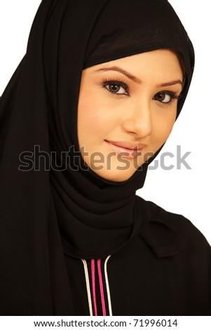 Asian Muslim Girl - stock photo