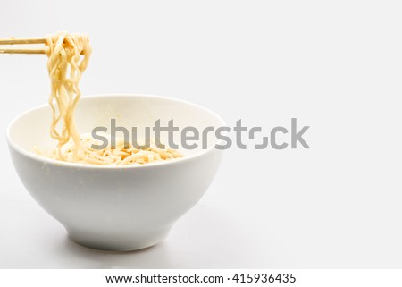 Asian noodle soup ramen with chicken