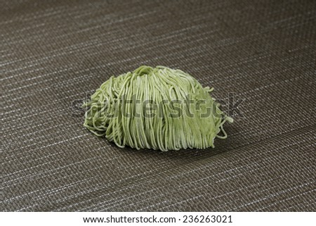 asian noodles on the table - stock photo
