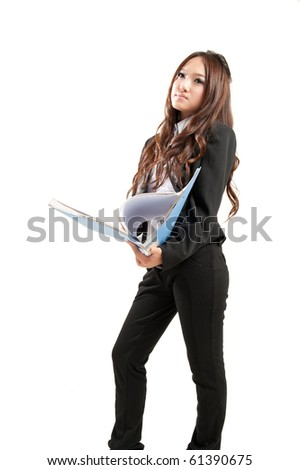 asian office lady in black suit