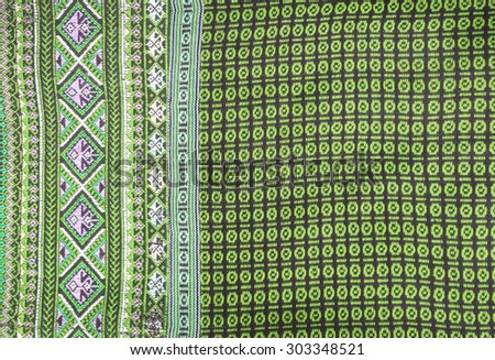 Asian pattern on tr additional Sarong - stock photo