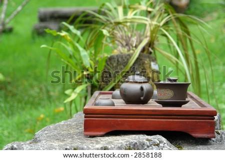 Asian Pottery - stock photo