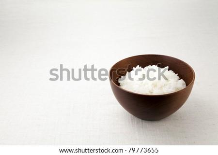 asian rice bowl. - stock photo