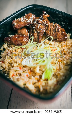 asian rice with pork