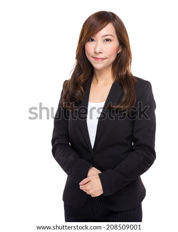 Asian senior business woman - stock photo