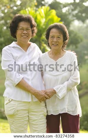 asian senior woman - stock photo