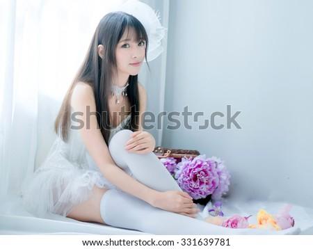 asian sexy underwear girl lady  japanese style - stock photo
