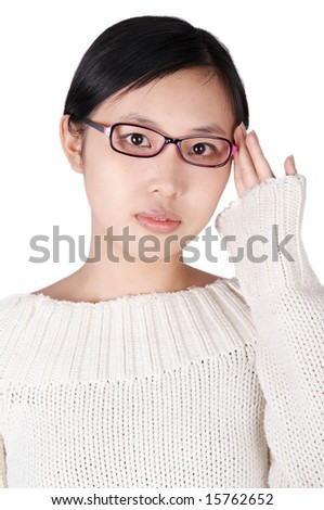 asian student - stock photo