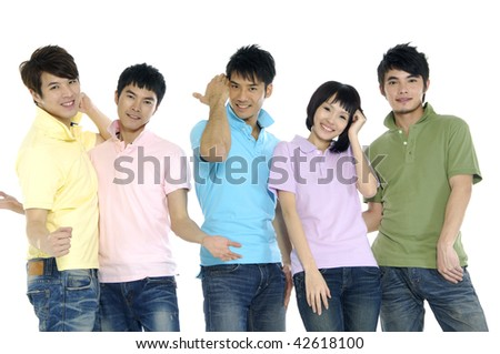 Asian student - stock photo