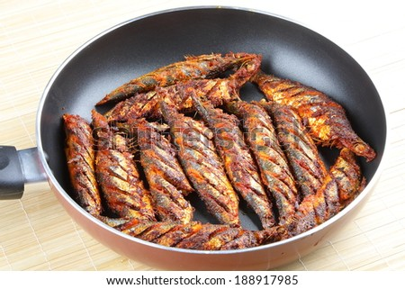 Asian style fish fry - stock photo