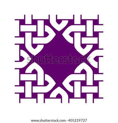 Asian Style Knotted Square Frame Illustration Stock Illustration