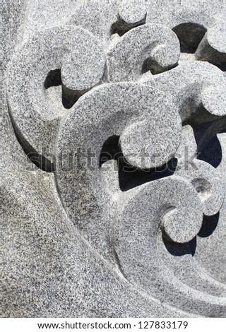 Asian style stone pattern - stock photo