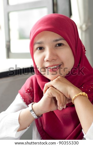 asian thai muslim attractive women - stock photo