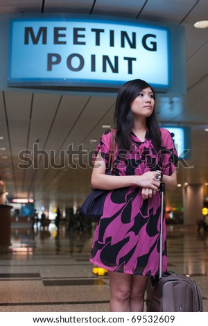 Asian tourist at airport