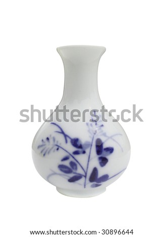 Asian Vase - stock photo