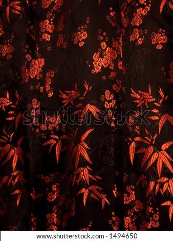 asian warm silk - stock photo