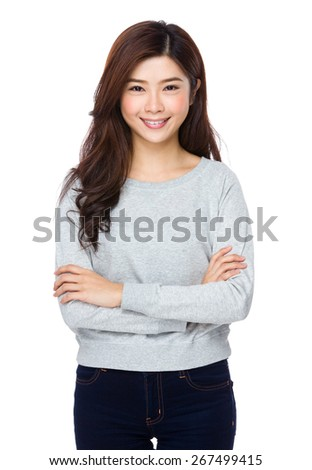Asian woman isolated  - stock photo