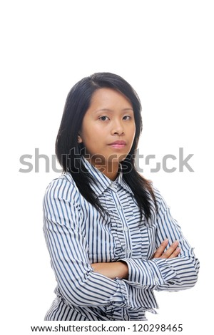 Asian woman looking confident and smart - stock photo