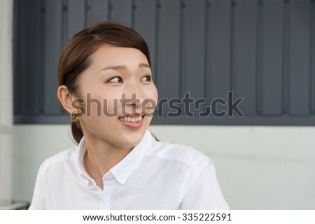 asian woman on the rooftop