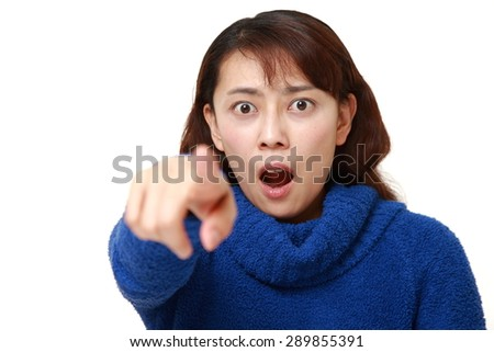 photo asian woman looking shocked surprised isolated white