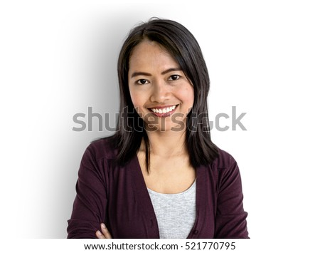 Asian Woman Smiling Happiness Concept