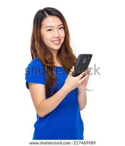 Asian woman use of mobile phone