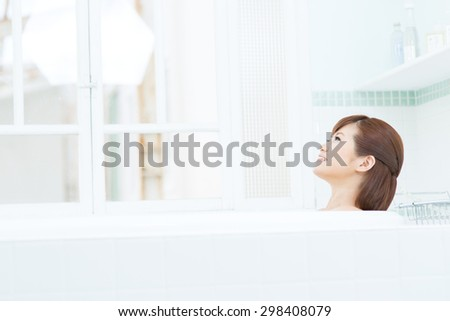 Asian woman with beauty face and perfect skin - stock photo