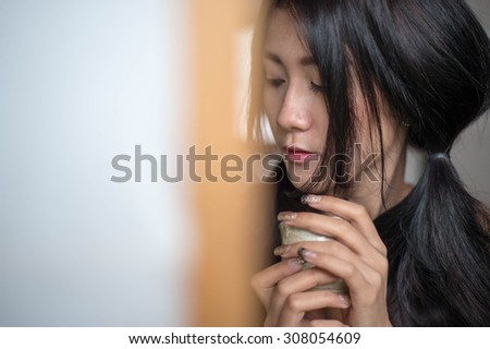 Asian women mood sad lifestyle