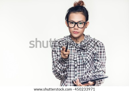 Asian women who are confident to offer good performance. - stock photo