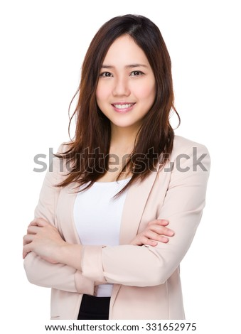 Asian Young Buisnesswoman portrait - stock photo