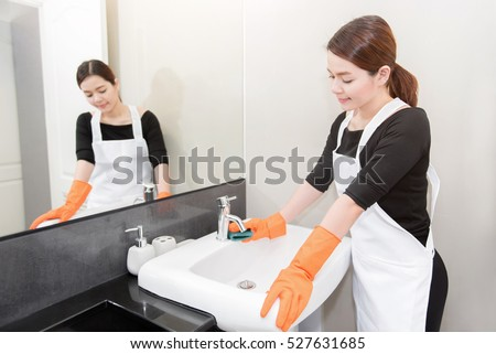 Hotel cleaning stock images royalty free images vectors for Bathroom cleaning companies