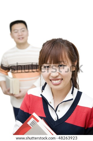 asian young people - stock photo