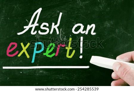 ask an expert - stock photo