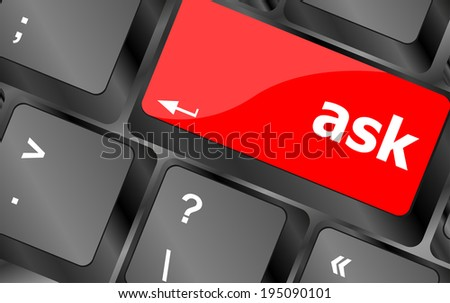 ask button on computer keyboard key, keyboard button