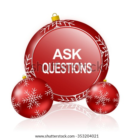 ask questions christmas icon