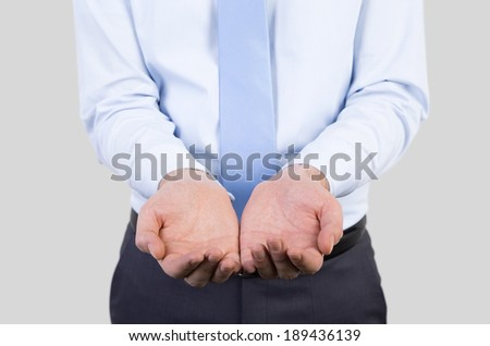 Asking businessman. - stock photo