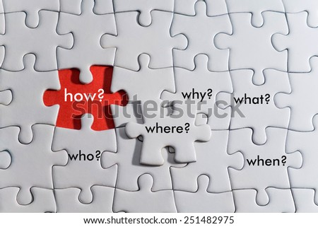 Asking question conceptual - stock photo