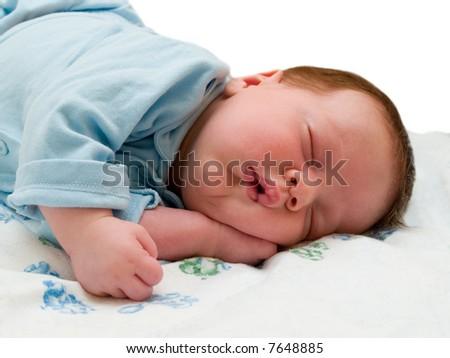 asleep baby - stock photo