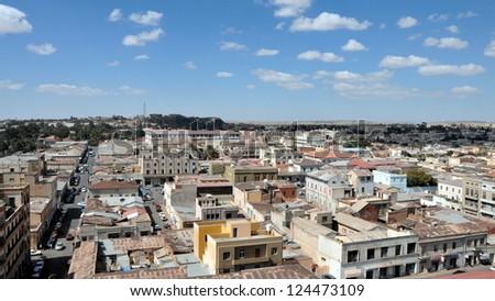 Asmara, capital of Eritrea - stock photo