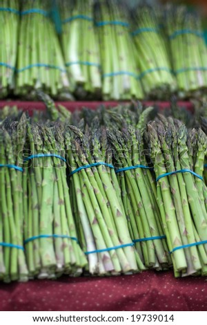 Asparagus at the Farmers Market - stock photo