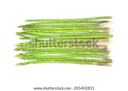 asparagus isolated on a white background - stock photo