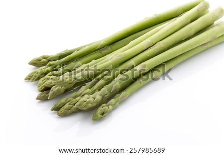 Asparagus isolated on the white background. - stock photo