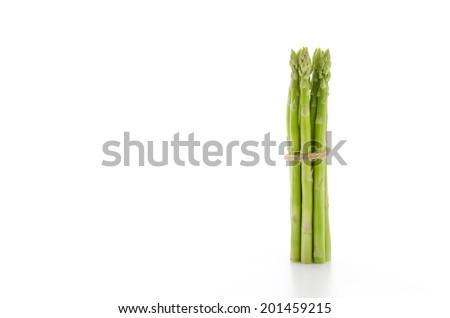 asparagus isolated on white - stock photo