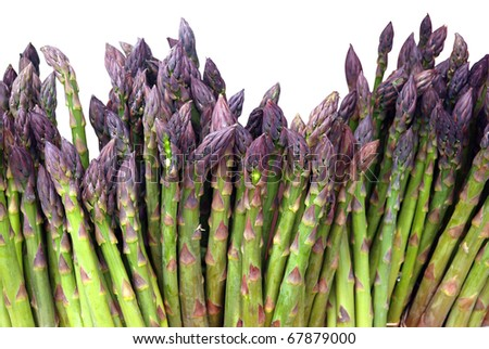 Asparagus isolated over white with clipping path