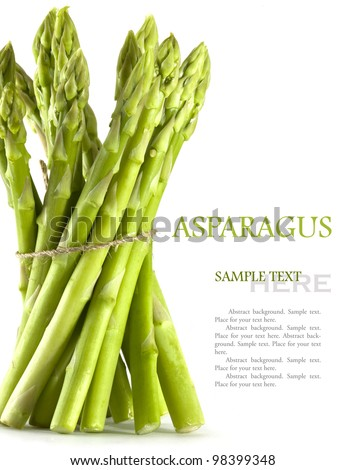 Asparagus on the white background - stock photo