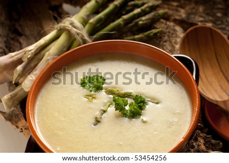 asparagus soup on bowl